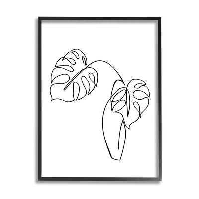 Monstera Plants In Vase Single Line Drawing - Wayfair