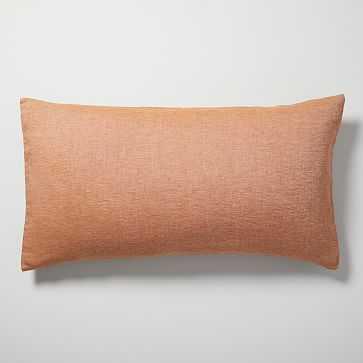 Belgian Flax Linen Melange King Sham, Terracotta - West Elm