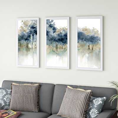 'Waters Edge I' by Carol Robinson - 3 Piece Picture Frame Watercolor Painting Print - Wayfair