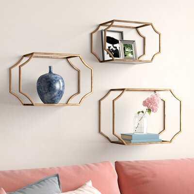 Stetson 3 Piece Wall Shelf Set - Wayfair