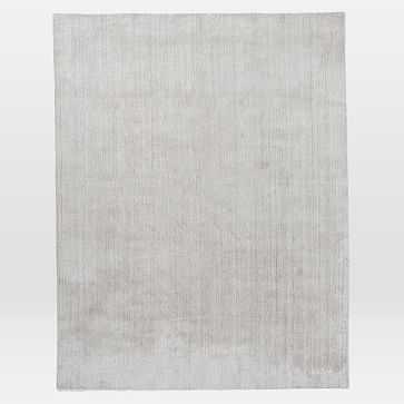 Hand Loomed Shine Rug, 8x10, Silver - West Elm