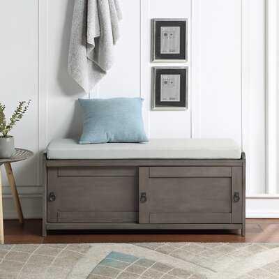 Wood Storage Bench - Wayfair