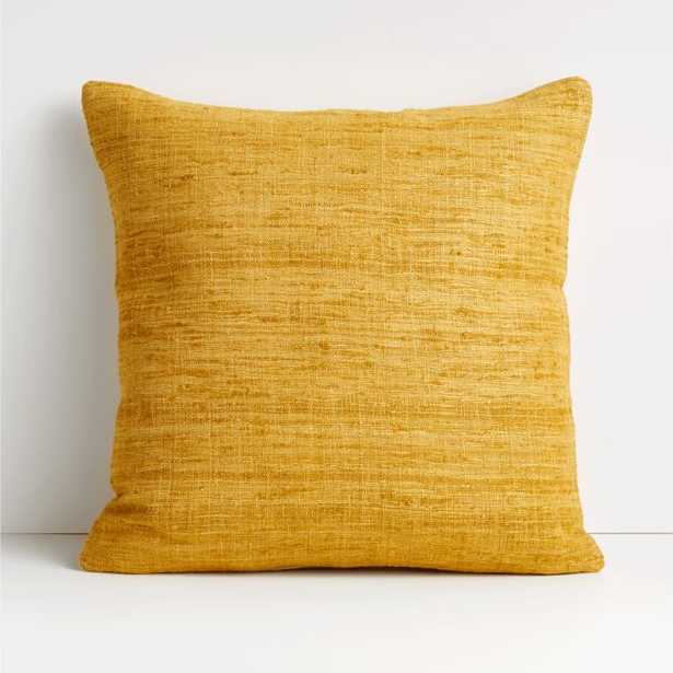 """Trevino 20"""" Yellow Pillow with Down-Alternative Insert - Crate and Barrel"""