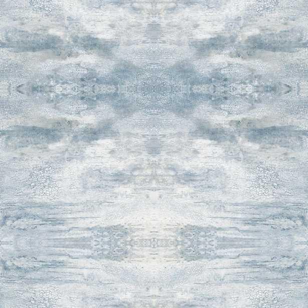 York Wallcoverings 56 sq. ft. Serene Jewel Wallpaper, Blue - Home Depot