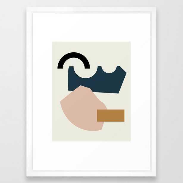 Shape Study #29 - Lola Collection Framed Art Print by Mpgmb - Vector White - MEDIUM (Gallery)-20x26 - Society6