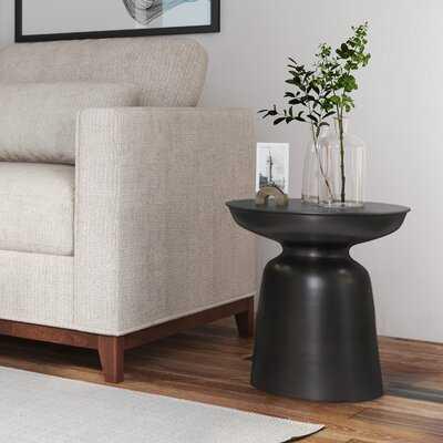 Drum End Table with Storage - Wayfair