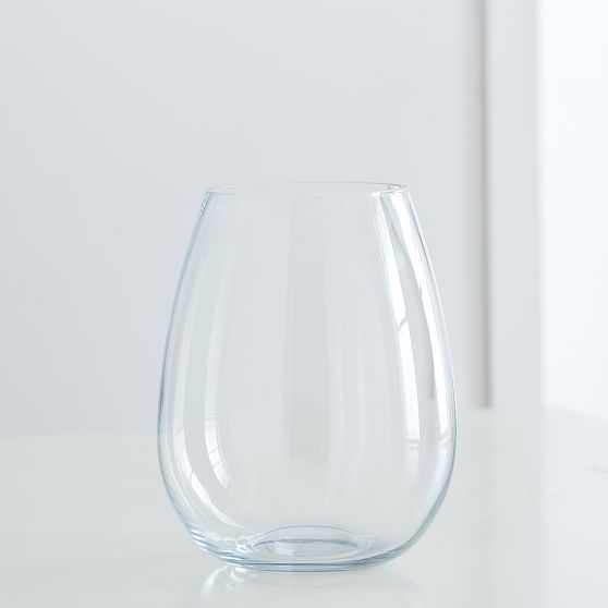 Pure Foundations Glass Vases, Large Vase, Clear - West Elm