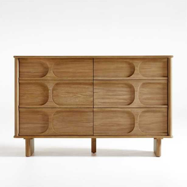 Wes 6-Drawer Wood Dresser - Crate and Barrel
