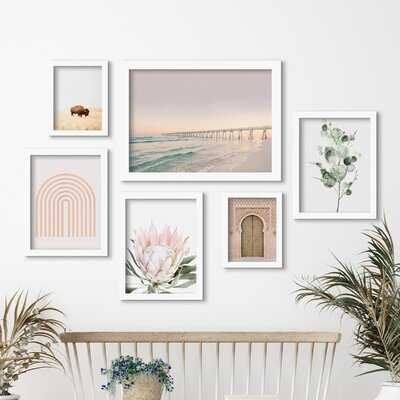 Beach Boardwalk by Sisi and Seb - 6 Piece Picture Frame Print Set on Paper - Wayfair