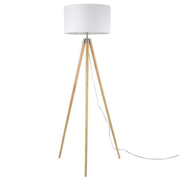 Light Society Celeste Tripod Floor Lamp in Natural - Home Depot