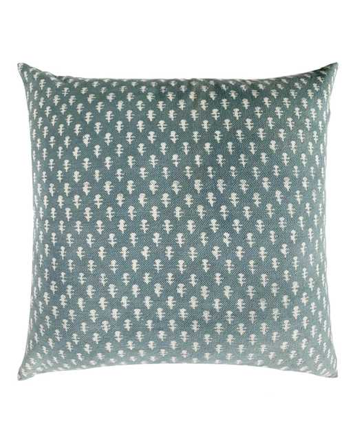teal patterned pillow - PillowPia