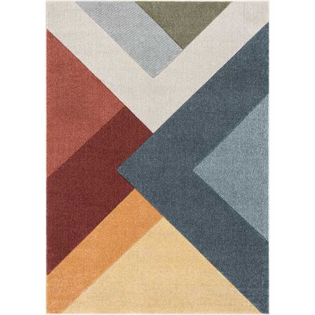 Well Woven Ruby Alma Mid-Century Modern Geometric Triangle Pattern Multi 5 ft. 3 in. x 7 ft. 3 in. Area Rug - Home Depot