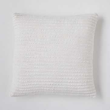 """Soft Corded Pillow Cover, 24""""x24"""", Natural Canvas - West Elm"""