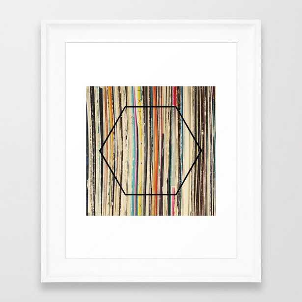 Modern Music Framed Art Print by Cassia Beck - Scoop White - X-Small-10x12 - Society6