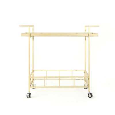 Efird Outdoor Modern Bar Serving Cart - AllModern