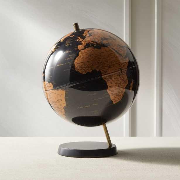 Black Marble Globe - CB2