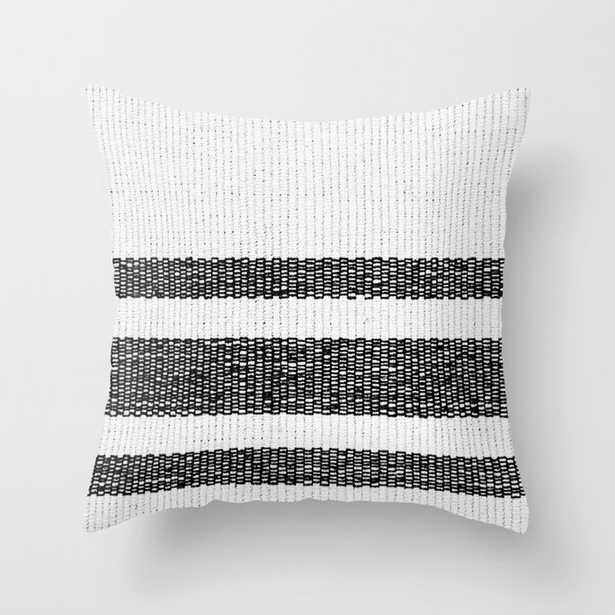"""Woven Stripes Black And White Couch Throw Pillow by Christina Lynn Williams - Cover (18"""" x 18"""") with pillow insert - Indoor Pillow - Society6"""