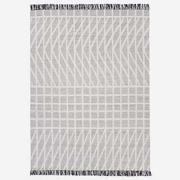 Grid Mix Rug, Stone Gray, 8'x10' - West Elm