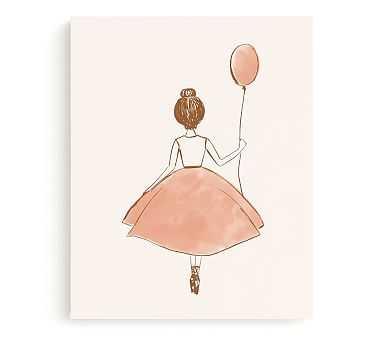 Minted(R) My Little Ballerina Wall Art by Belia Simm; 18x24, Canvas - Pottery Barn Kids