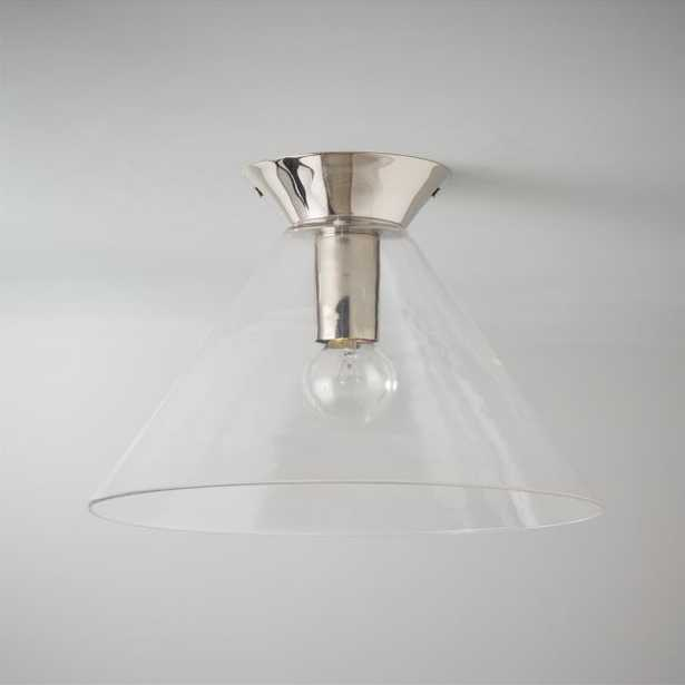 Jace Polished Nickel Flush Mount Light - CB2