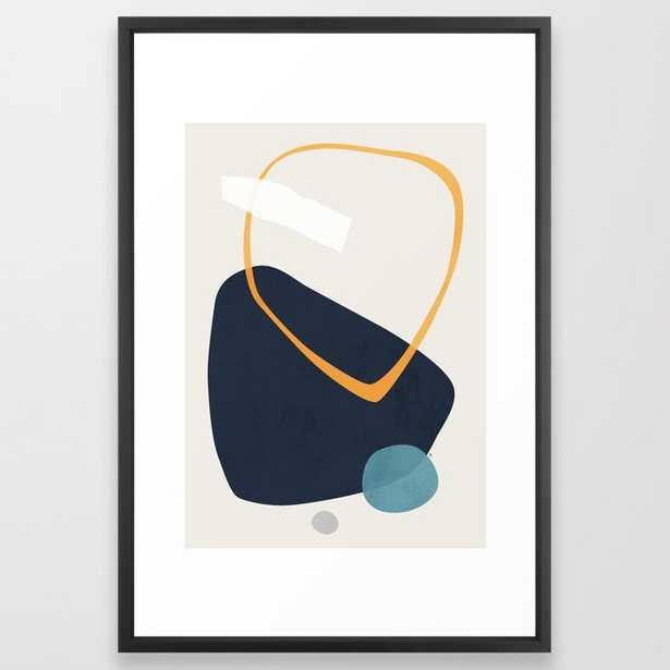 Rai Framed Art Print by Tracie Andrews - Vector Black - LARGE (Gallery)-26x38 - Society6