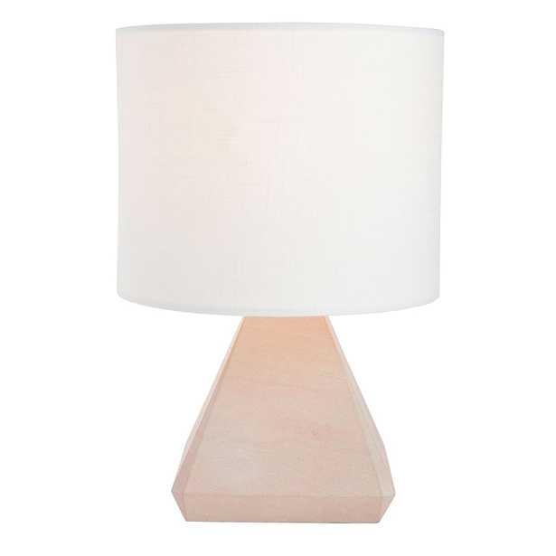 Blush Stone Table Lamp - Pottery Barn Teen
