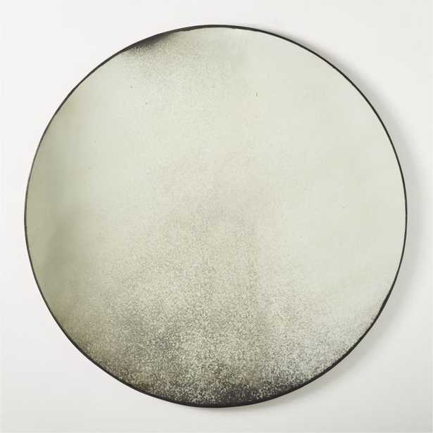 """Clooney Antiqued Round Mirror 48"""" RESTOCK IN EARLY JULY,2021 - CB2"""