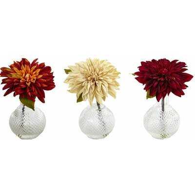 Dahlia Centerpieces in Vase - Birch Lane