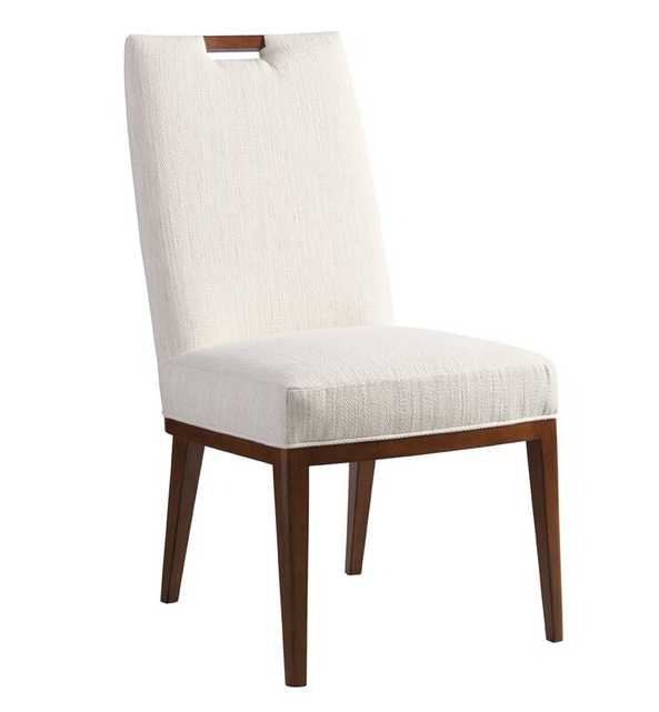 Tommy Bahama Home Island Fusion Coles Bay Upholstered Dining Chair Upholstery Color: White - Perigold