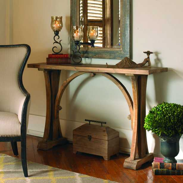 Genessis Reclaimed Wood Console Table - Hudsonhill Foundry