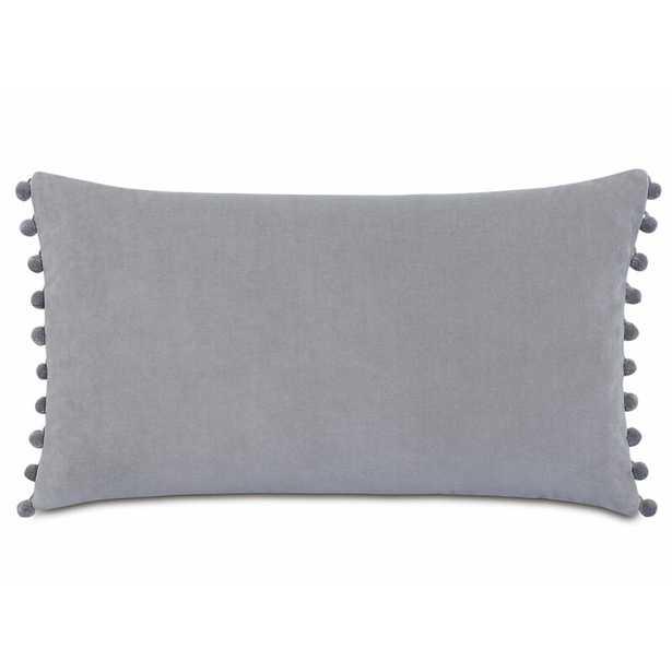 Eastern Accents Plush Frou Cotton Lumbar Pillow Color: Gray - Perigold