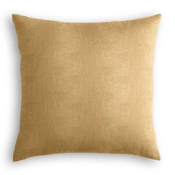 """Loom Decor Throw Pillow Color: Gold, Size: 24"""" x 24"""" - Perigold"""