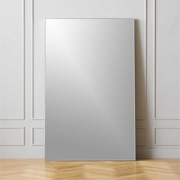 "Infinity Silver Floor Mirror 48""x76"" - CB2"