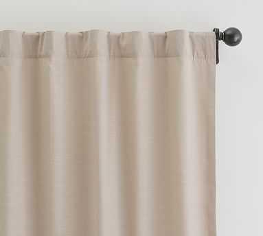 """Lianna TENCEL(TM) Cotton Curtain, 50 x 96"""", Taupe - Pottery Barn"""