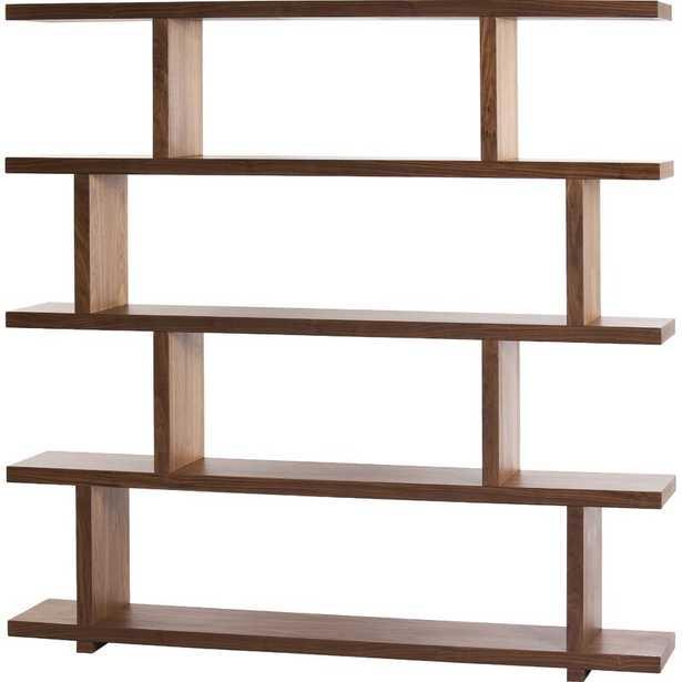 Miri Geometric Bookcase Finish: Walnut - Perigold