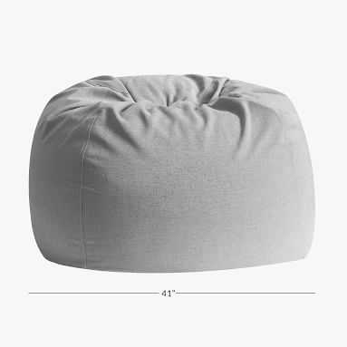 Recycled Chenille Washed Gray Bean Bag Chair, Cover & Insert Set - Pottery Barn Teen