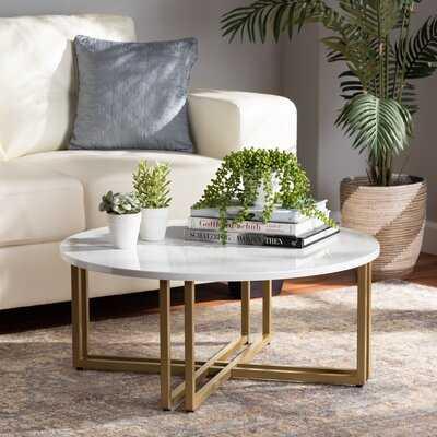 Mann Cross Legs Coffee Table - Wayfair