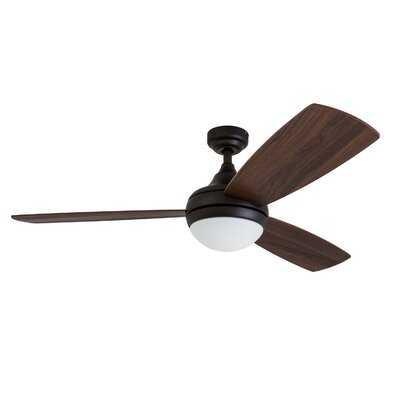 "52"" Alyce 3 Blade Ceiling Fan with Remote Control - AllModern"