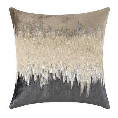 Mira Square Velvet Pillow Cover & Insert - Wayfair