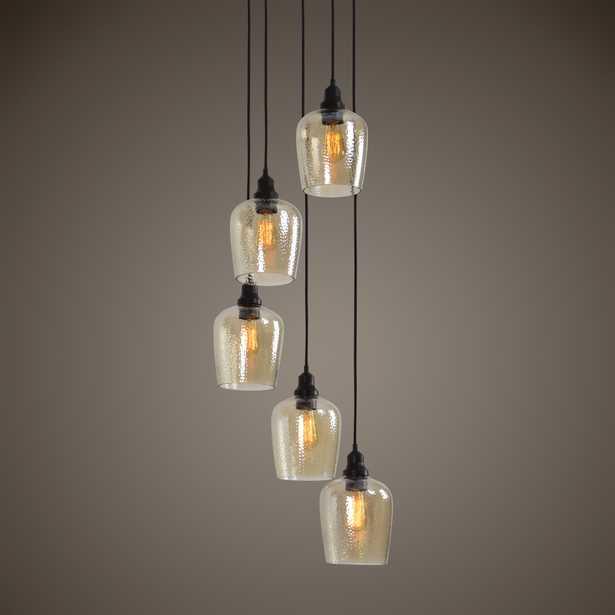 Aarush 5 Light Glass Cluster Pendant - Hudsonhill Foundry