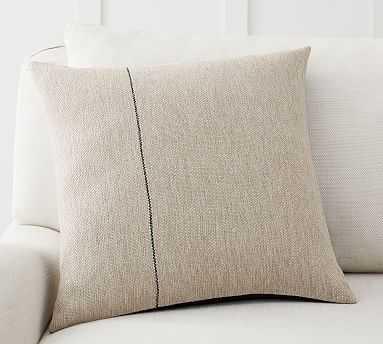 "Amada Single Striped Pillow Cover, 18 x 18"", Ivory Multi - Pottery Barn"