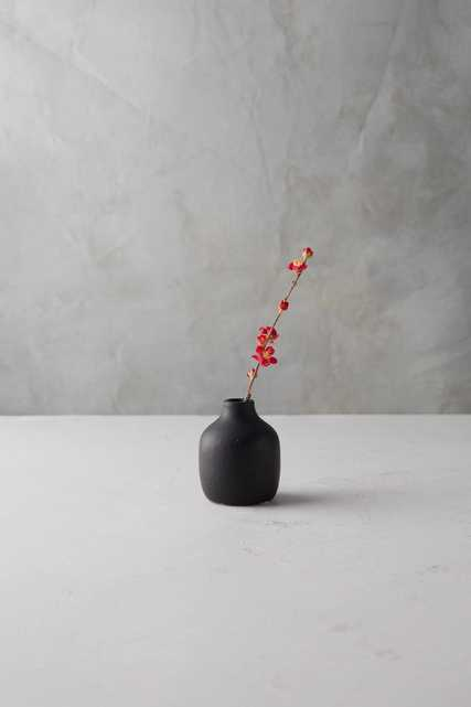 Matte Terracotta Bud Vase, Low - Anthropologie