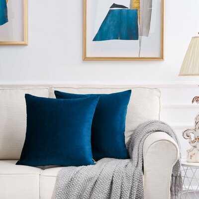 Diyari Square Velvet Pillow Cover (set of 2) - Wayfair