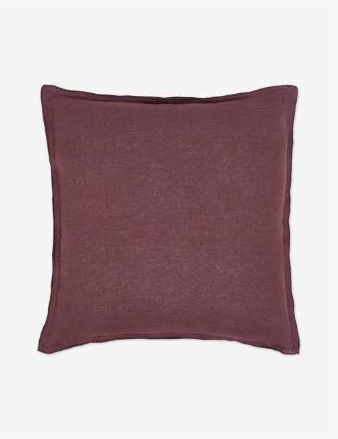Arlo Linen Pillow, Aubergine - Lulu and Georgia