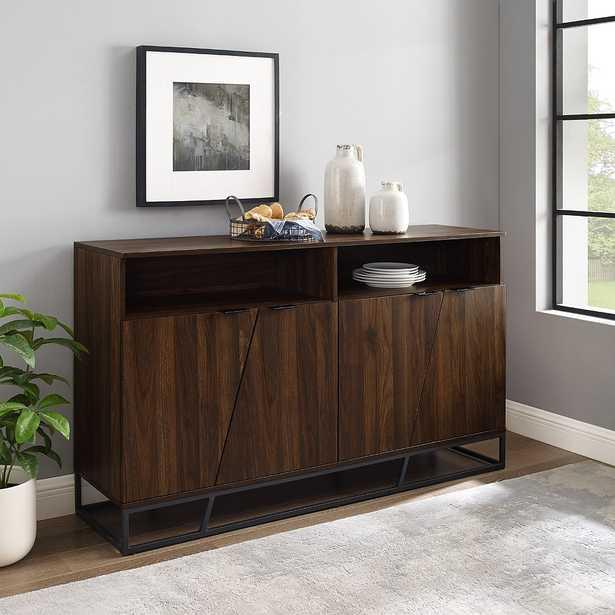 "Norton 58"" Wide Dark Walnut 4-Door Wood Sideboard - Style # 90N18 - Lamps Plus"
