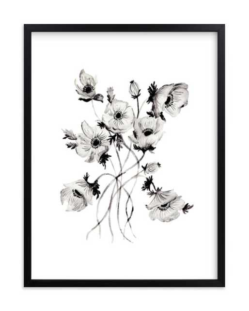 Greyscale Poppies Art Print - Minted