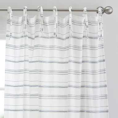 "Roxy Stripe Sheer Curtain Panel, 84"", Multi - Pottery Barn Teen"