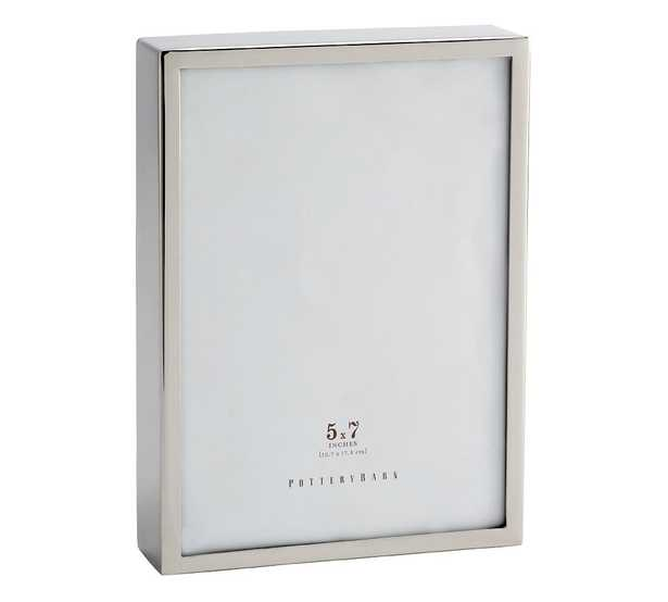 """Hagen Picture Frame, Silver, 5"""" x 7"""" - Pottery Barn"""