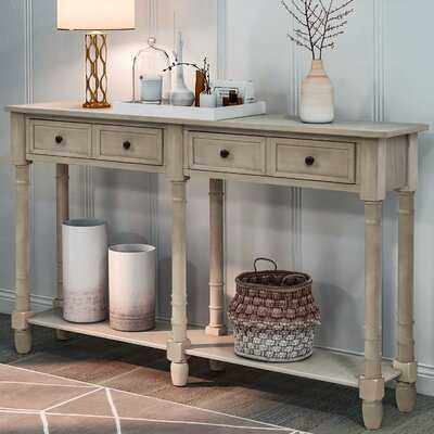 Console Table Sofa Table Easy Assembly With Two Storage Drawers And Bottom Shelf For Living Room, Entryway - Wayfair