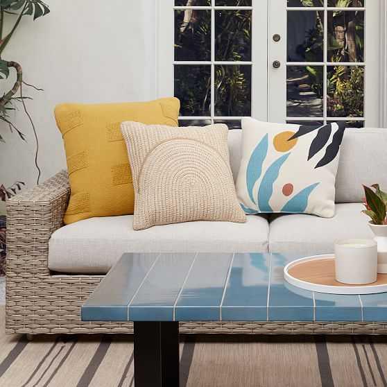 Outdoor Graphic Fronds Pillow Set - West Elm